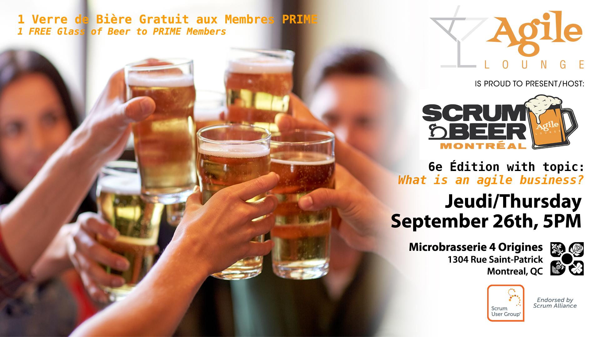 Scrum Beer September 6th, 2019
