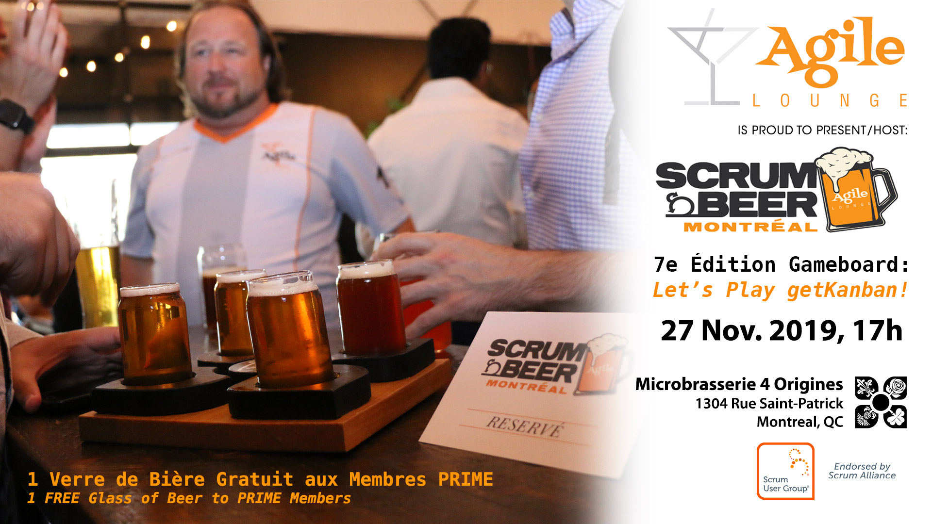 Scrum Beer 27 novembre 2019